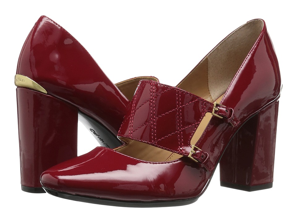 Calvin Klein - Casilla (Garnet Patent) Women's Shoes