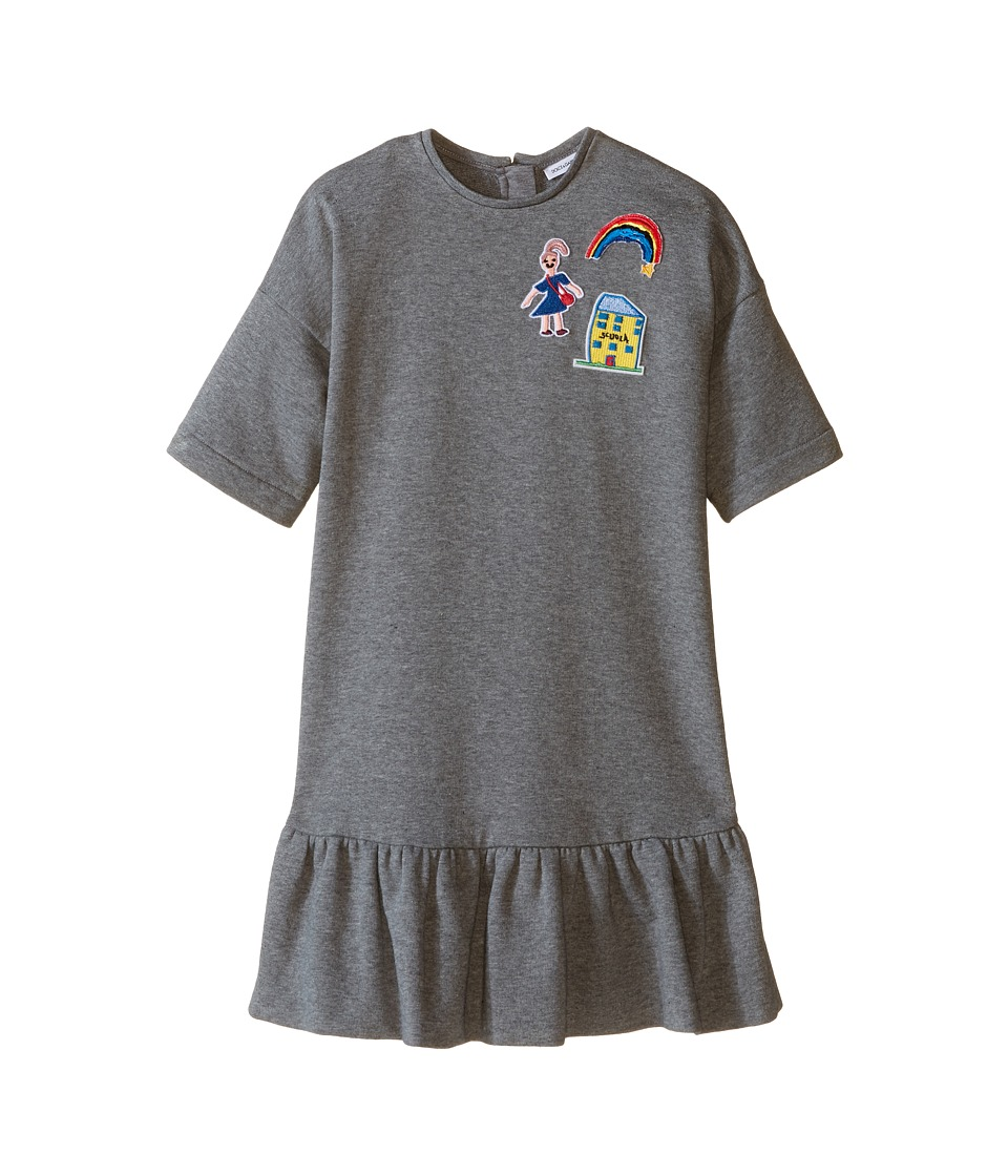 Dolce & Gabbana Kids - Back to School Sweatshirt Dress (Toddler/Little Kids) (Grey Melange Print) Girl's Dress