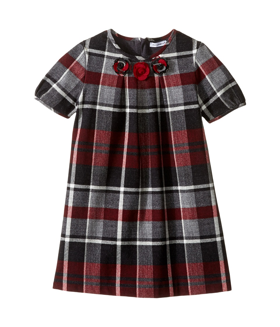 Dolce & Gabbana Kids - Back to School Multicheck Dress (Toddler/Little Kids) (Red/Blue Print) Girl's Dress