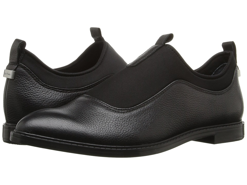 Calvin Klein Damira (Black Leather/Neoprene) Women