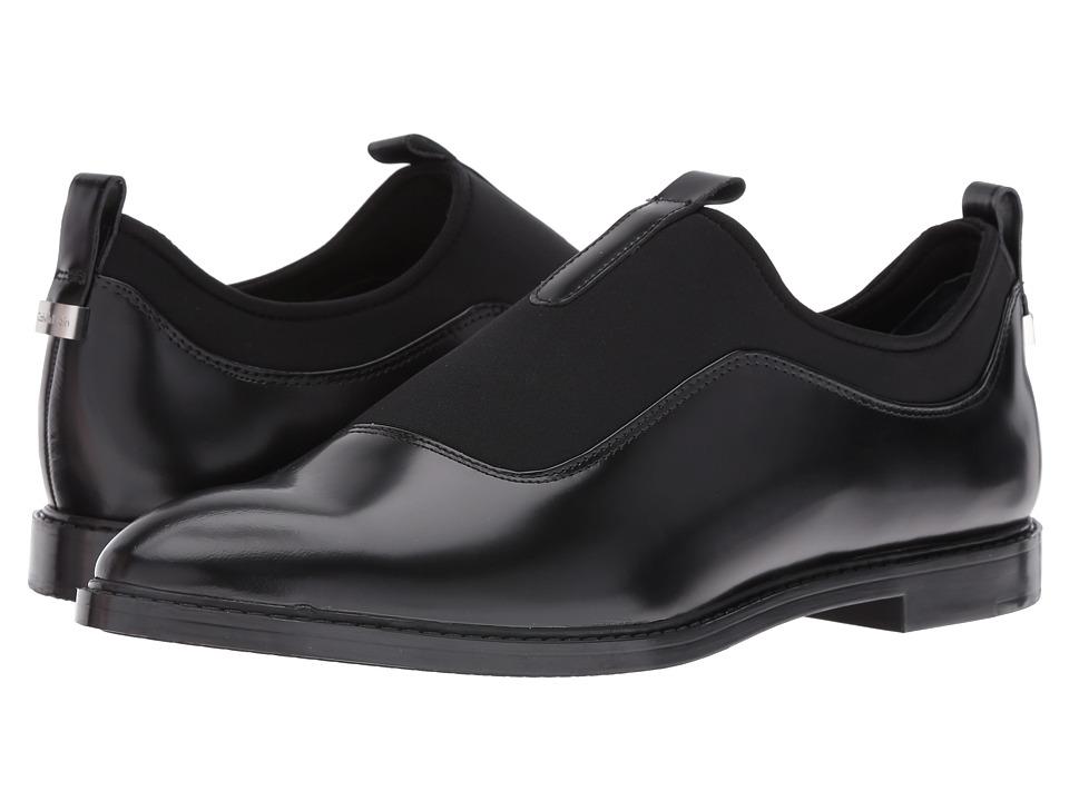 Calvin Klein - Damira (Black/Black Leather/Neoprene) Women's Shoes