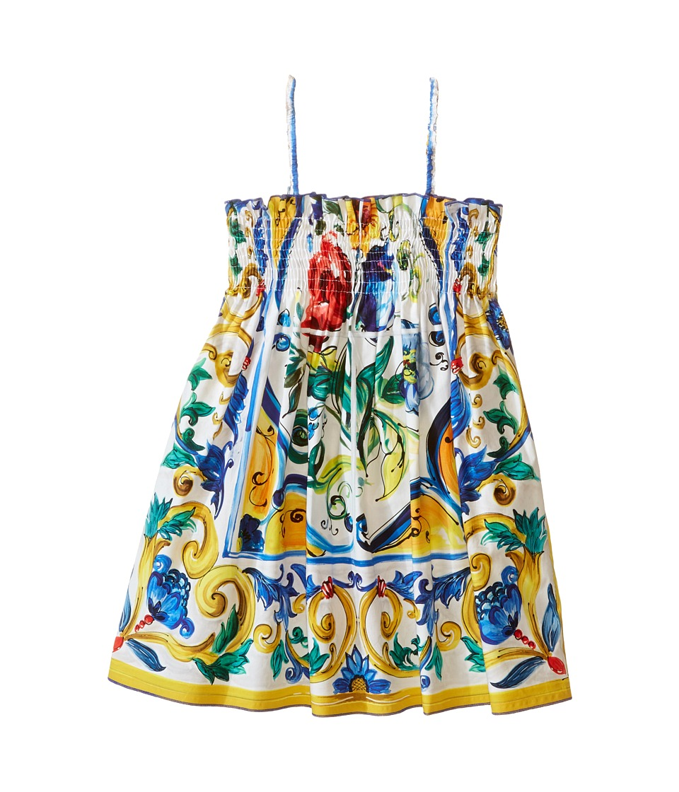 Dolce & Gabbana Kids - Escape Sleeveless Dress (Toddler/Little Kids) (White Print) Girl's Dress