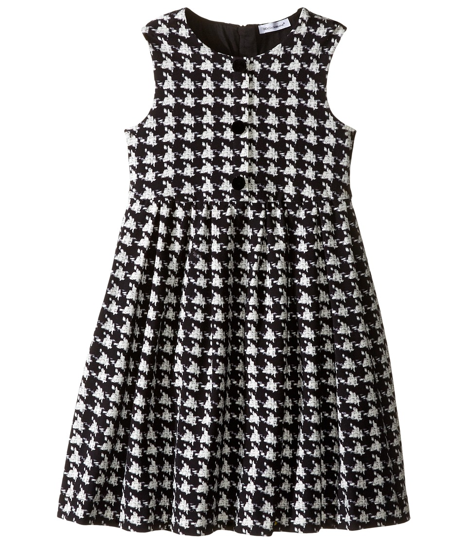 Dolce & Gabbana Kids - City Houndstooth Dress (Toddler/Little Kids) (Black/White Print) Girl's Dress