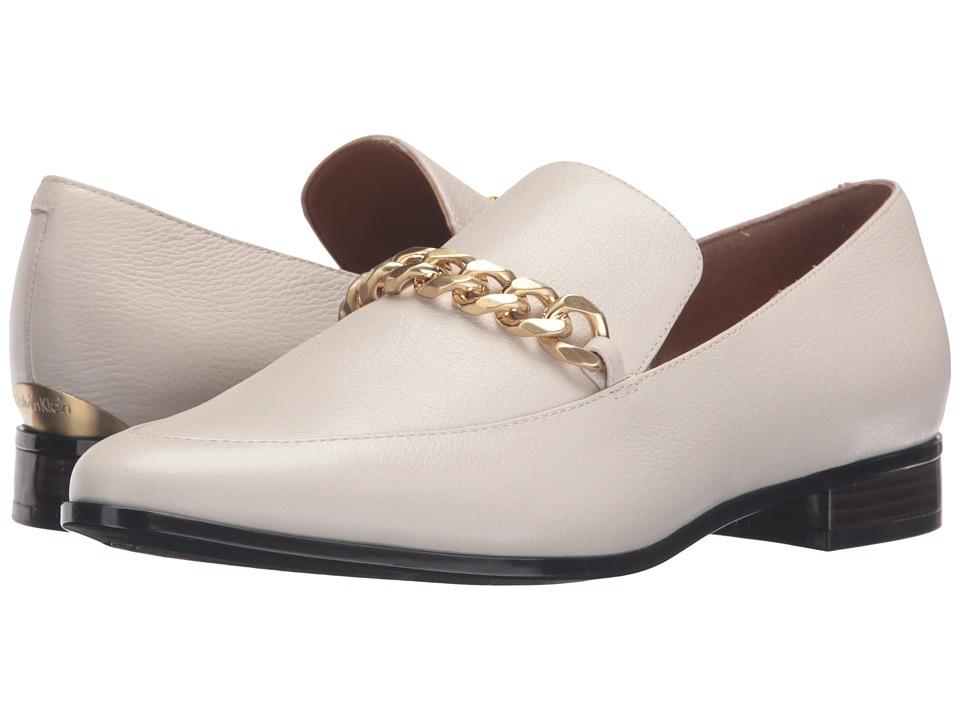 Calvin Klein Fanna (Soft White Waxy Tumbled Leather) Women