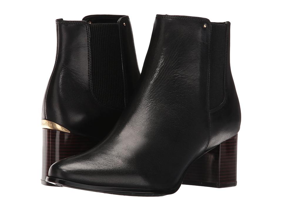 Calvin Klein Felda (Black Leather/Elastic) Women