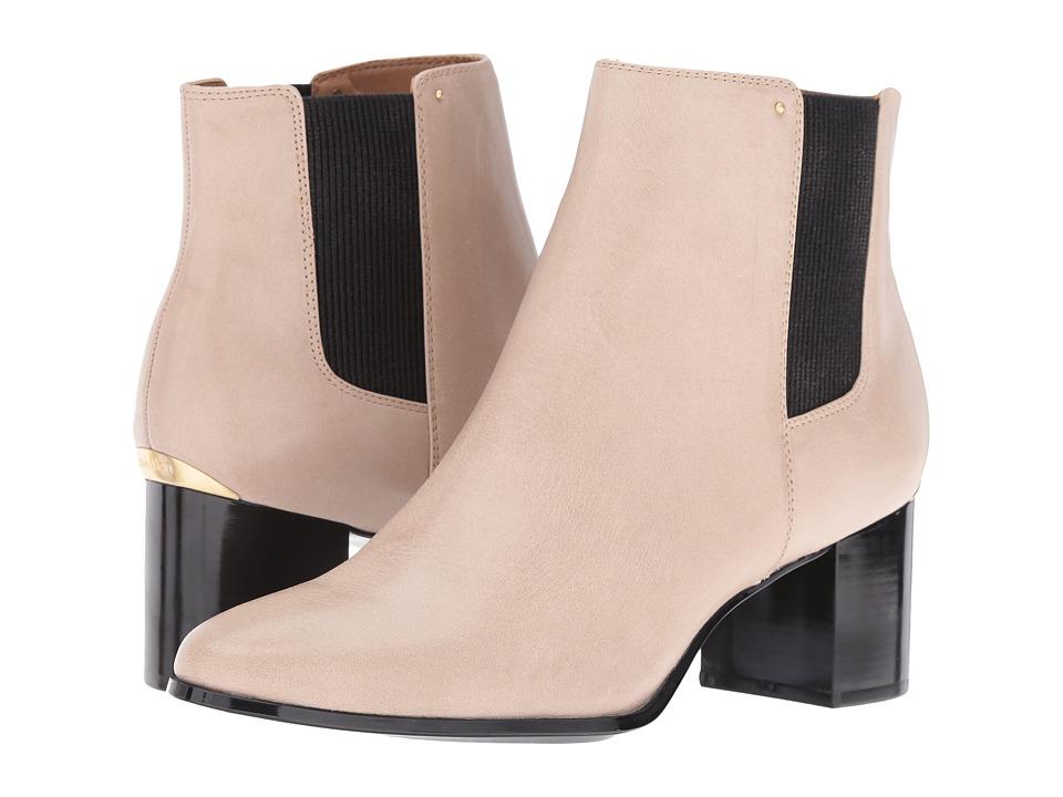 Calvin Klein - Felda (Clay/Black Leather/Elastic) Women's Shoes