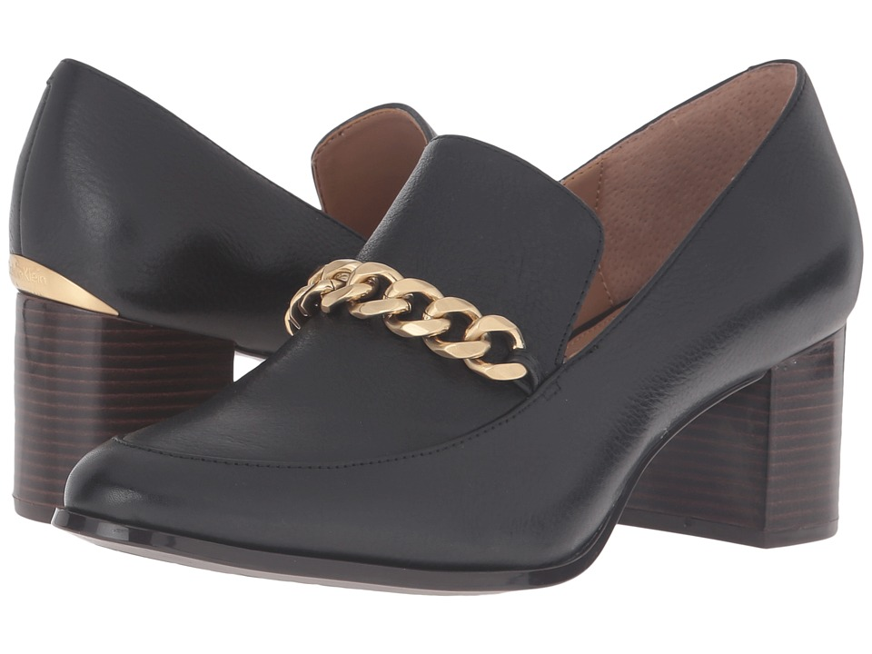 Calvin Klein - Finney (Black Waxy Tumbled Leather) Women's Shoes