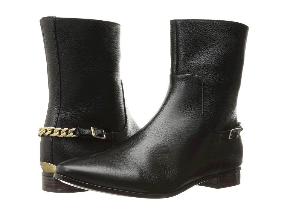 Calvin Klein Finius (Black Waxy Tumbled Leather) Women