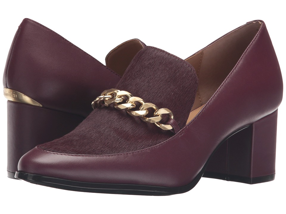 Calvin Klein - Finney (Cabernet Leather/Haircalf) Women's Shoes