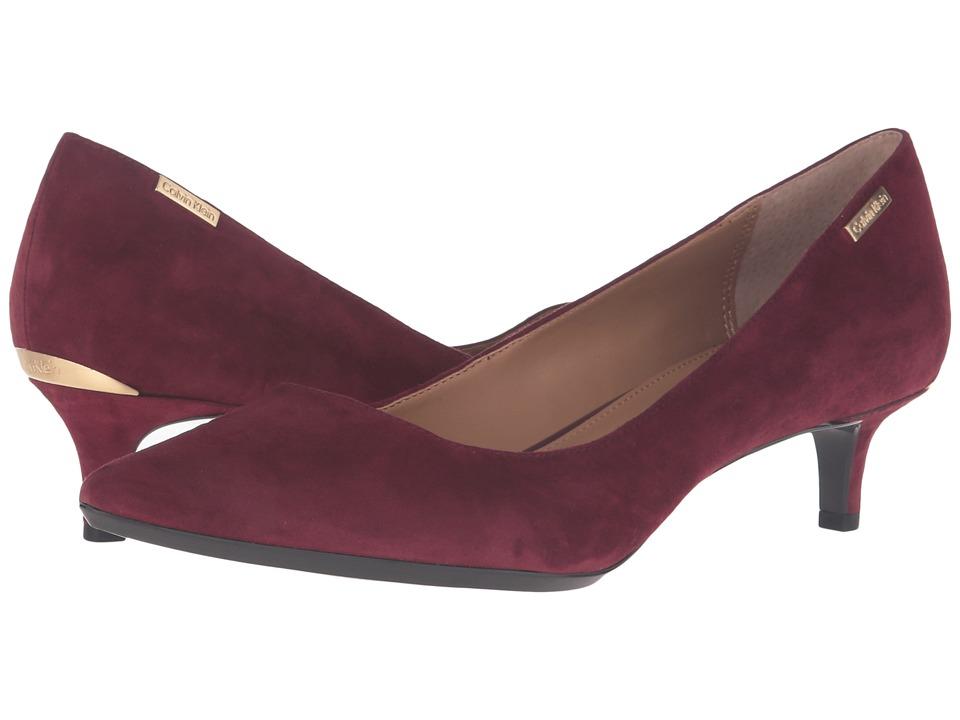 Calvin Klein - Gabrianna (Cabernet Suede) Women's 1-2 inch heel Shoes