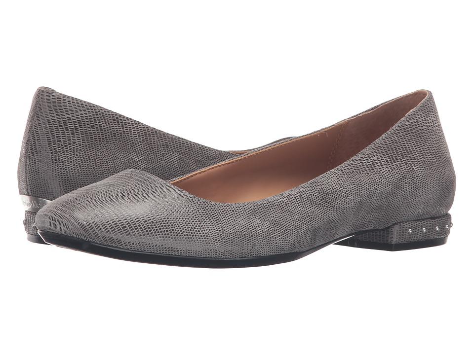 Calvin Klein Fridelle (Shadow Grey Tejus Lizard Print Leather) Women