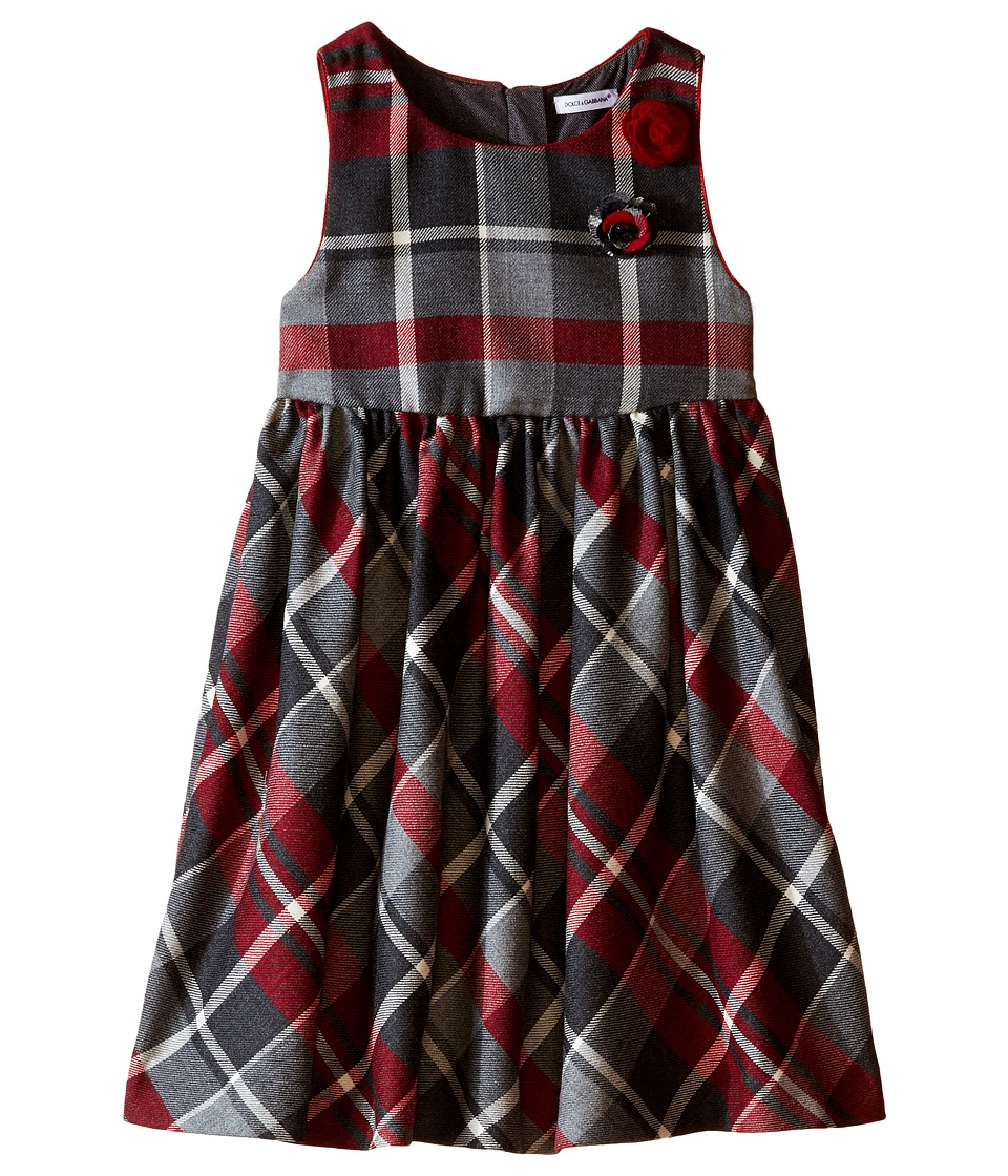 Dolce & Gabbana Kids - Back to School Quadricheck Tartan Dress (Toddler/Little Kids) (Red Print) Girl's Dress
