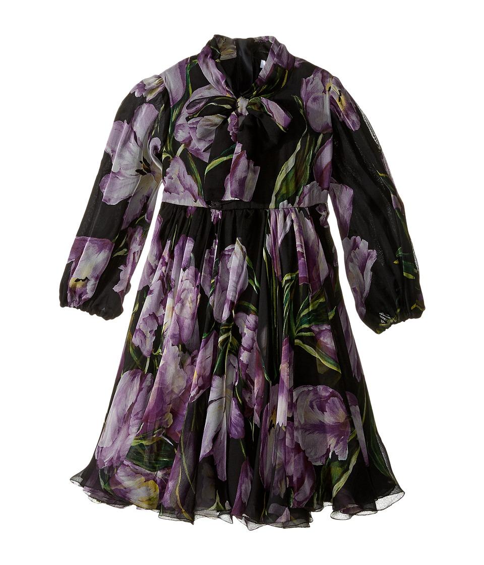Dolce & Gabbana Kids City Tulip Chiffon Dress