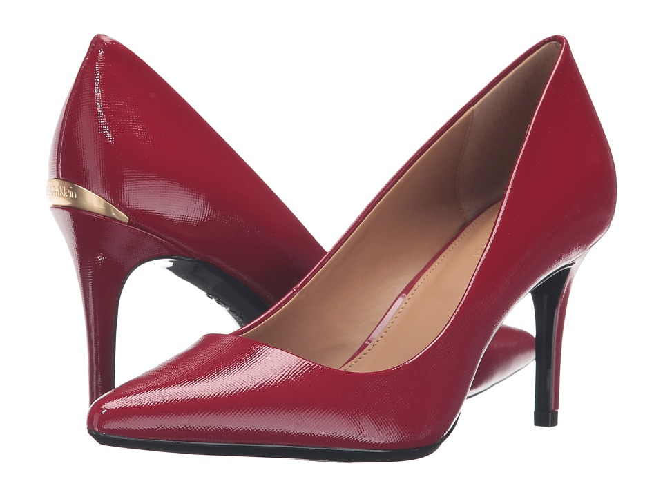 Calvin Klein - Gayle (Garnet Mini Saffiano Leather) High Heels