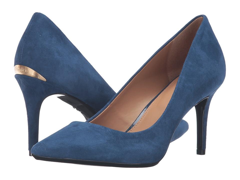 Calvin Klein - Gayle (Marine Blue Suede) High Heels