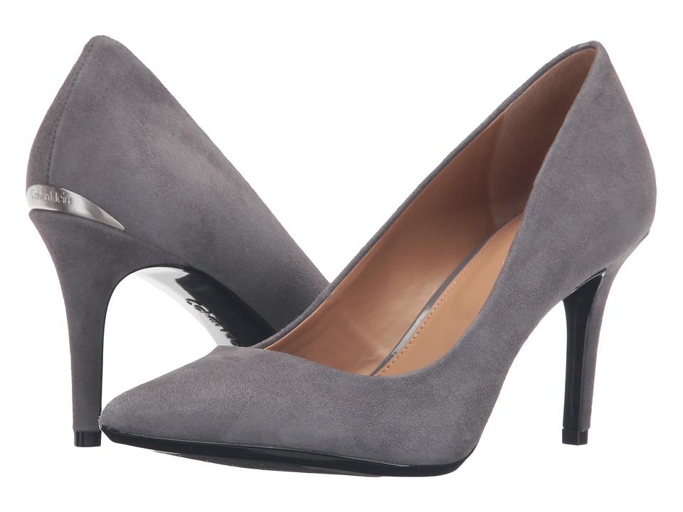 Calvin Klein - Gayle (Shadow Grey Suede) High Heels