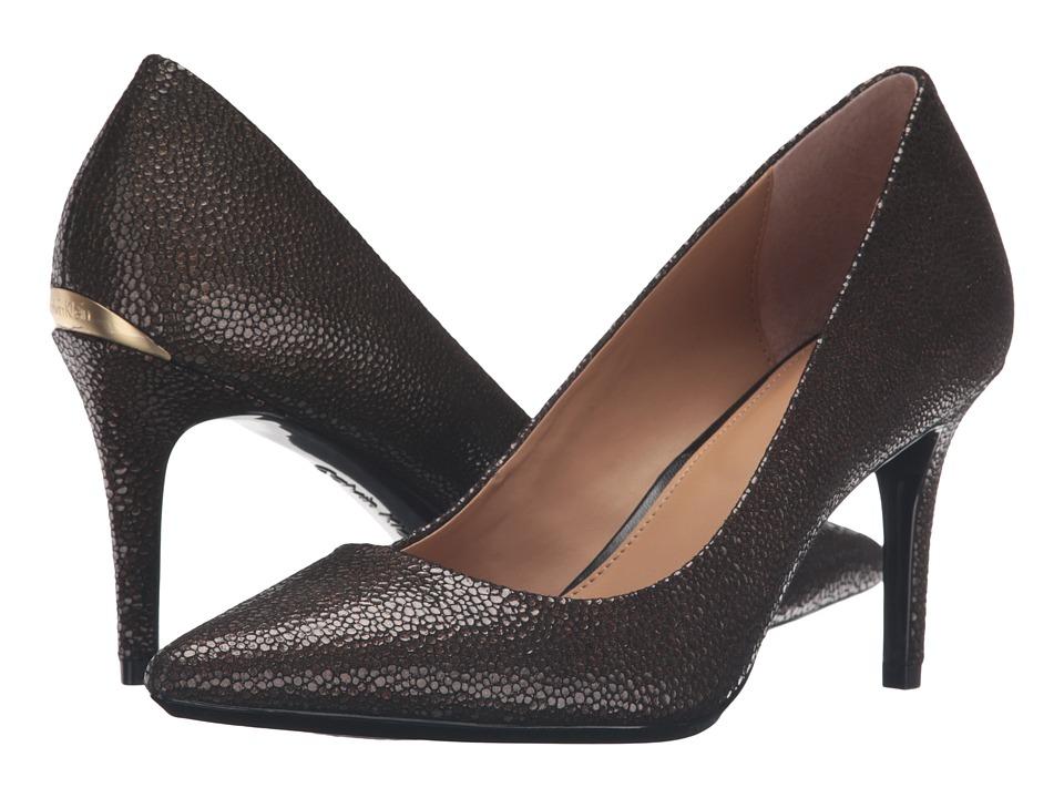 Calvin Klein - Gayle (Coffee Bean Pearlized Stingray Print Leather) High Heels