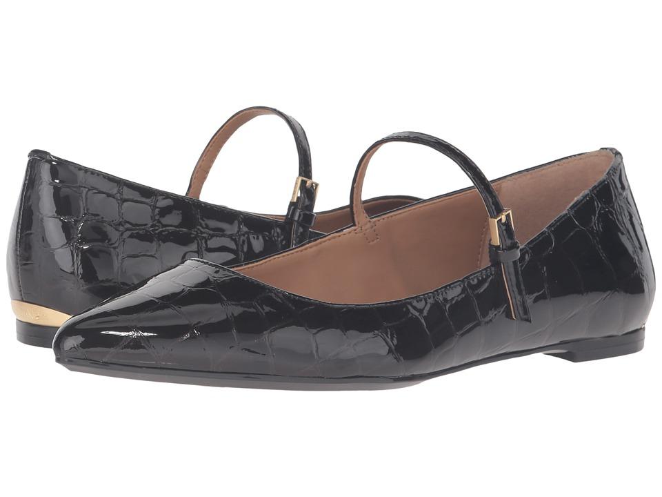 Calvin Klein Gracy (Black Croco Print Patent) Women