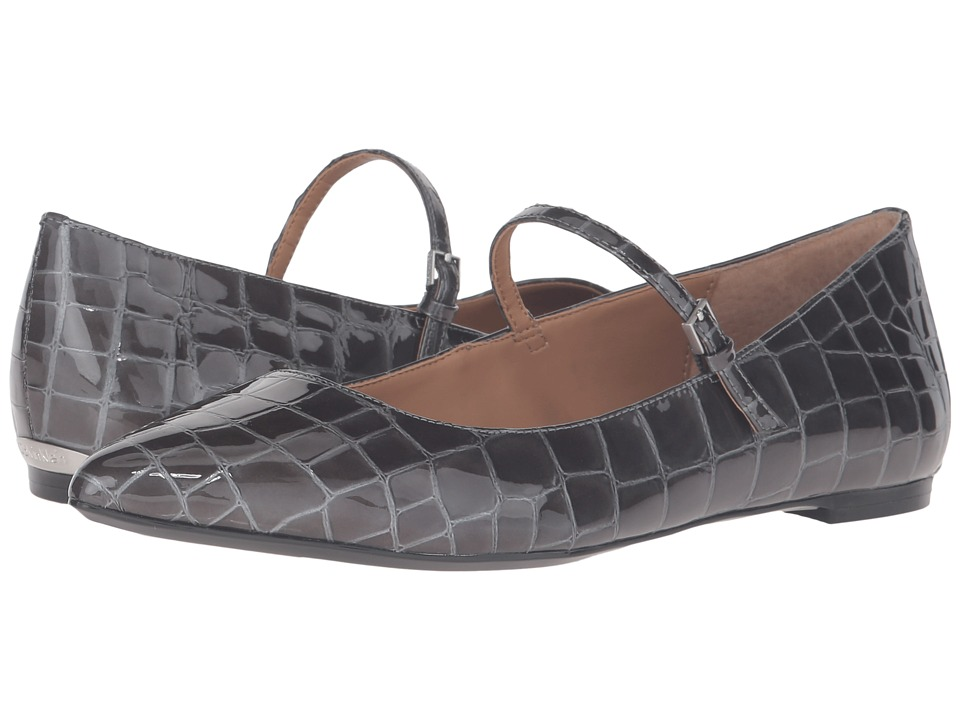 Calvin Klein Gracy (Shadow Grey Croco Print Patent) Women