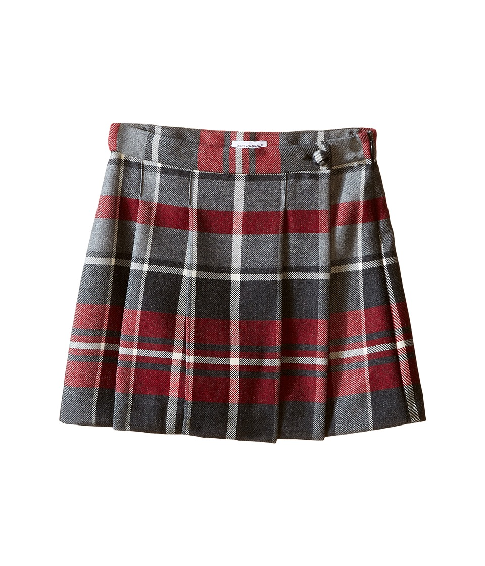 Dolce & Gabbana Kids - Back to School Quadricheck Tartan Skirt (Toddler/Little Kids) (Red Print) Girl's Skirt