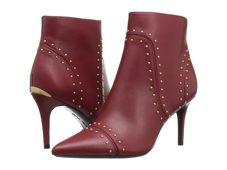 Calvin Klein - Grazia (Garnet Leather) Women's Shoes