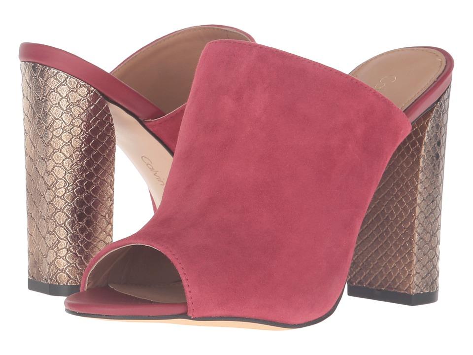 Calvin Klein Janica (Garnet Suede/Leather) Women