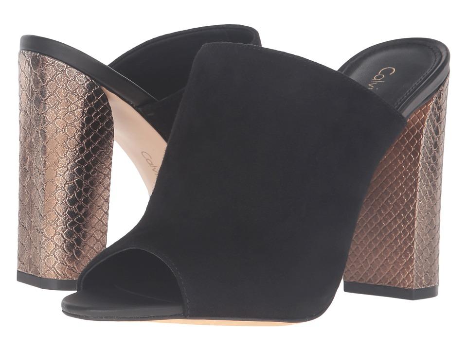 Calvin Klein Janica (Black Suede/Leather) Women