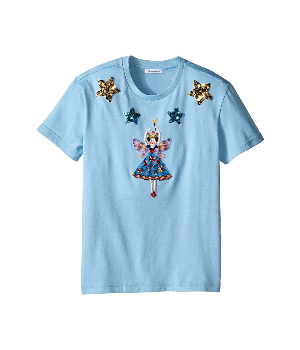 Dolce & Gabbana Kids - City Short Sleeve T-Shirt (Big Kids) (Light Blue Print) Girl's T Shirt