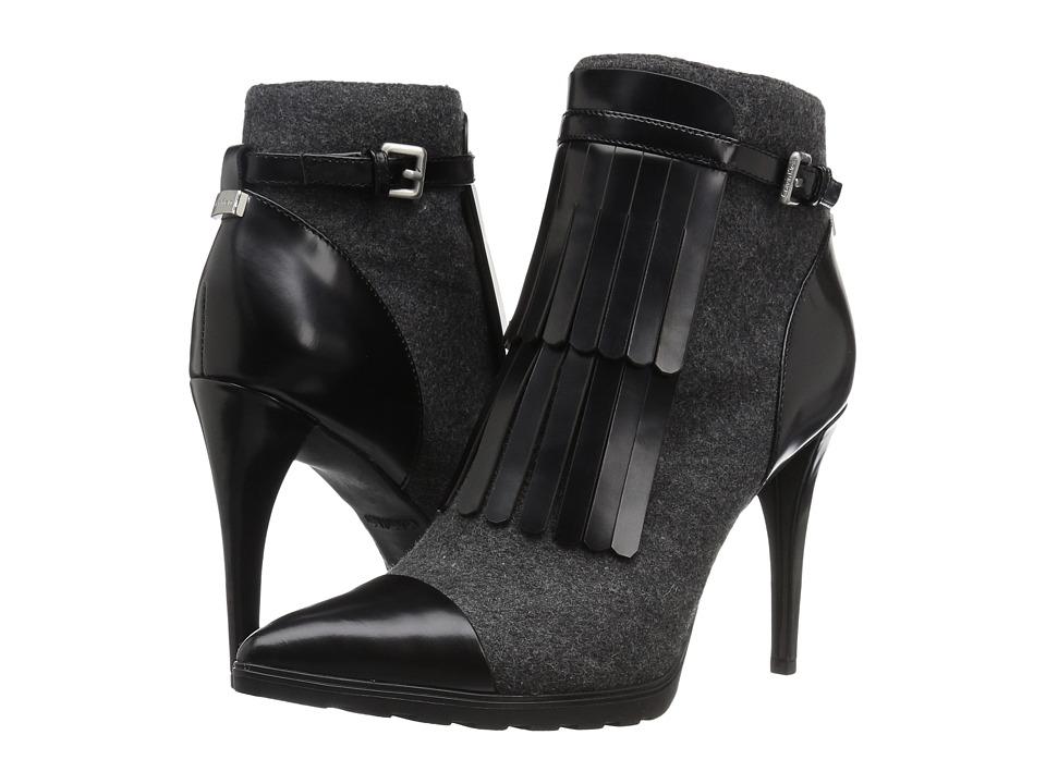 Calvin Klein - Makena (Charcoal/Black Felt/Leather) Women's Shoes