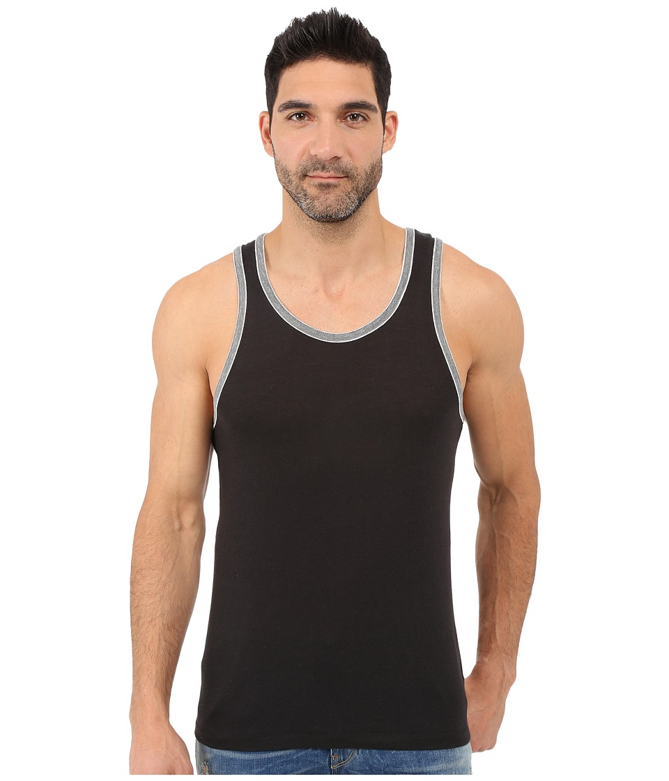 Alternative - Double Ringer Tank (Eco True Black/Eco Grey) Men's Sleeveless