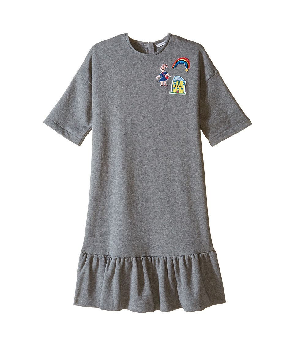 Dolce & Gabbana Kids - Back to School Sweatshirt Dress (Big Kids) (Grey Melange Print) Girl's Dress