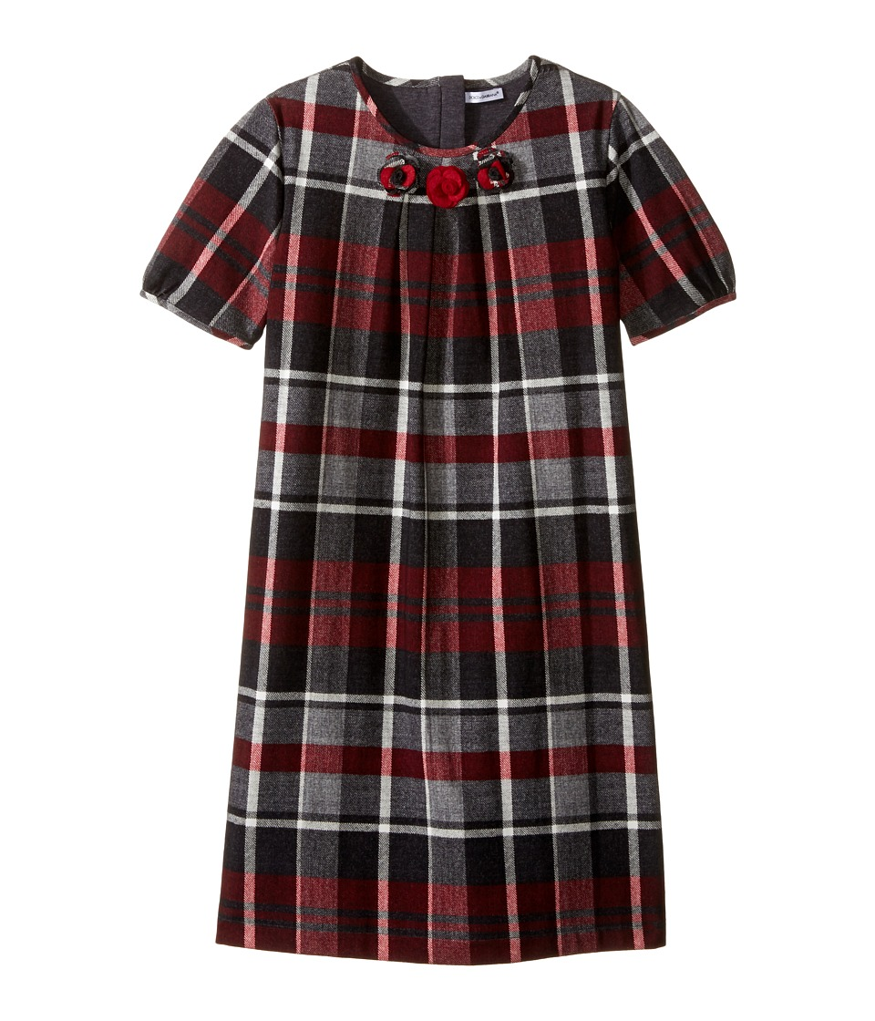 Dolce & Gabbana Kids - Back to School Multicheck Dress (Big Kids) (Red/Blue Print) Girl's Dress
