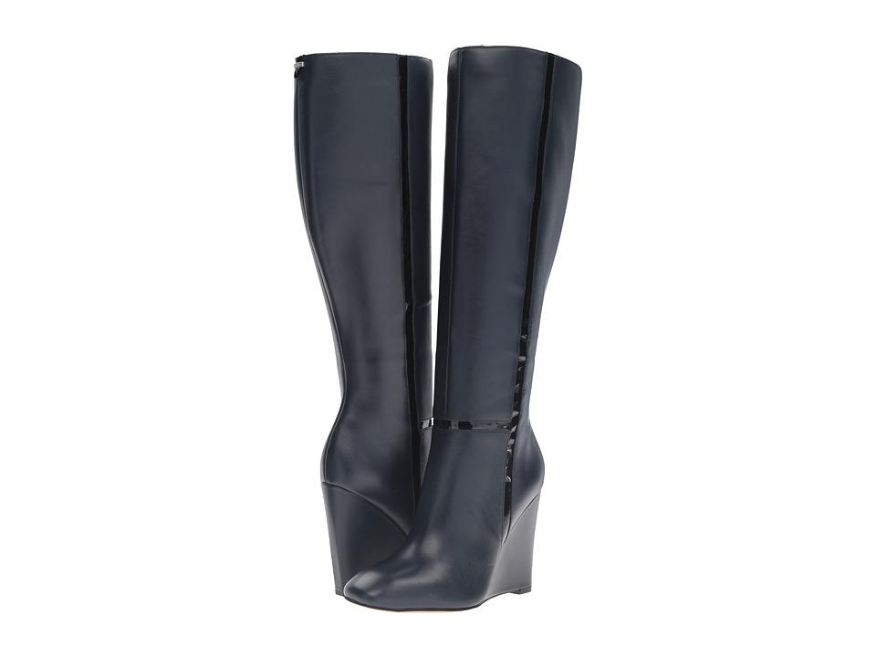 Calvin Klein - Poloma (Deep Navy/Black Leather/Patent) Women's Shoes
