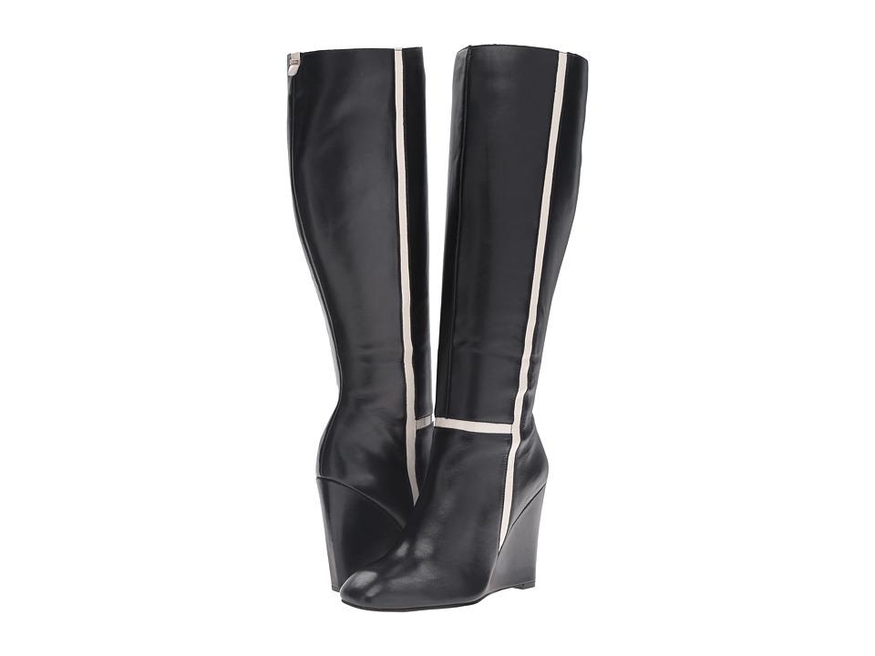 Calvin Klein - Poloma (Black/Soft White Leather/Patent) Women's Shoes