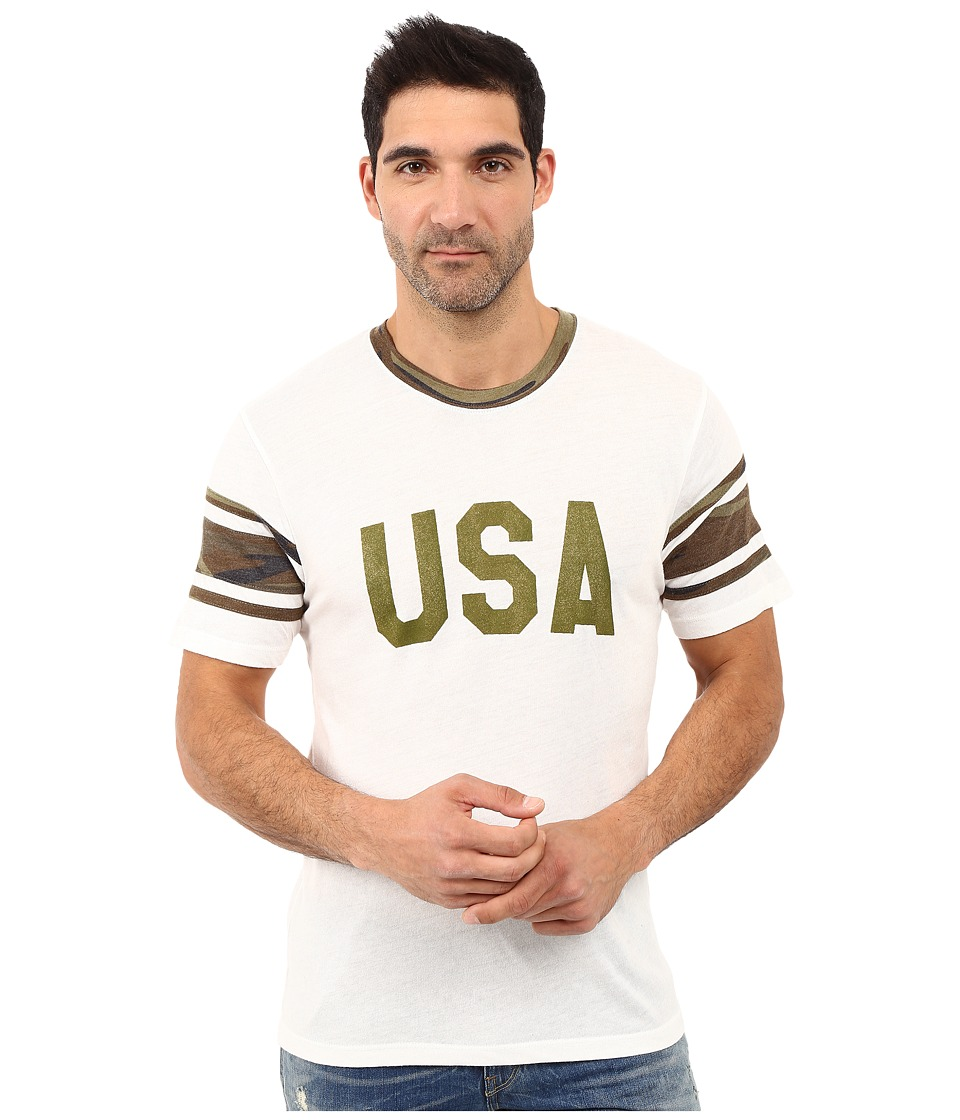 Alternative - Eco Jersey Touchdown Tee (USA Print Eco Ivory) Men's T Shirt