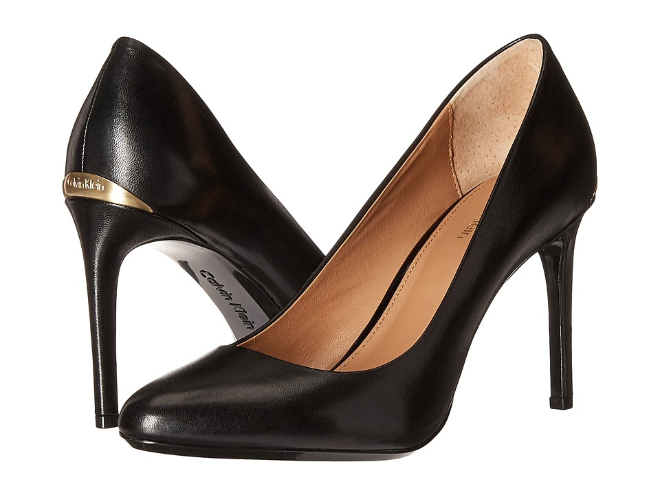 Calvin Klein - Salene (Black Leather) Women's Shoes