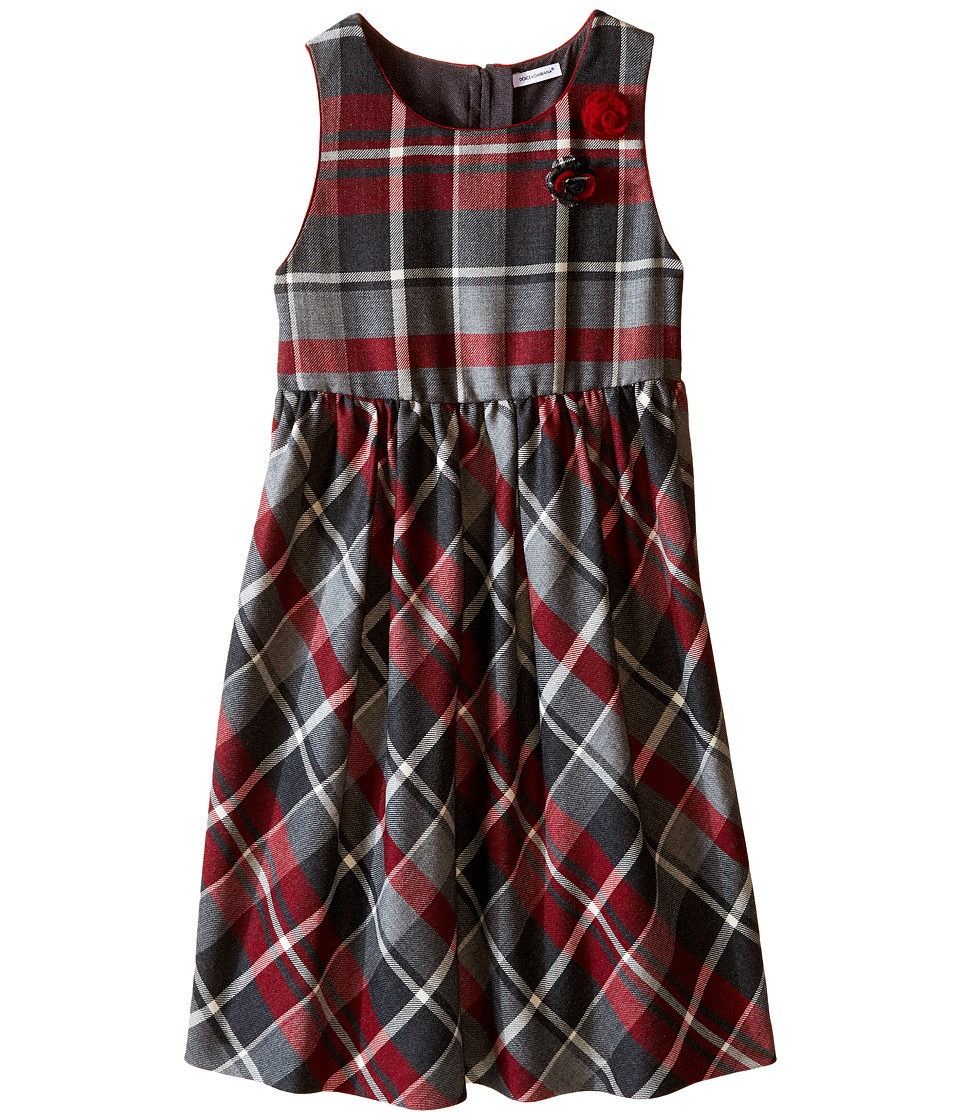 Dolce & Gabbana Kids - Back to School Quadricheck Tartan Dress (Big Kids) (Red Print) Girl's Dress
