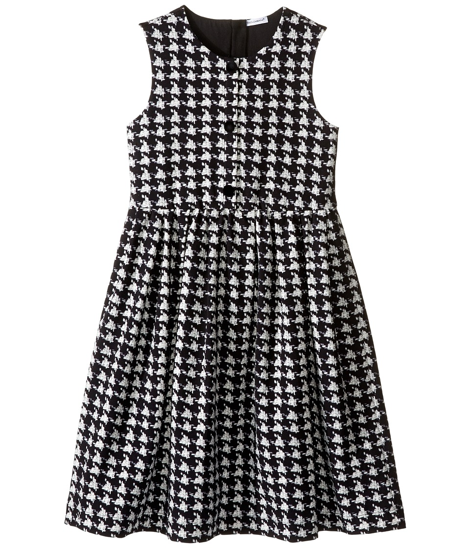 Dolce & Gabbana Kids - City Houndstooth Dress (Big Kids) (Black/White Print) Girl's Dress