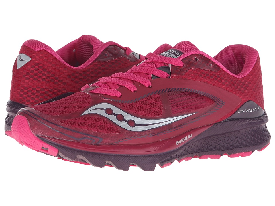 Saucony Life on the Run Kinvara 7 (Cerise/Purple) Women