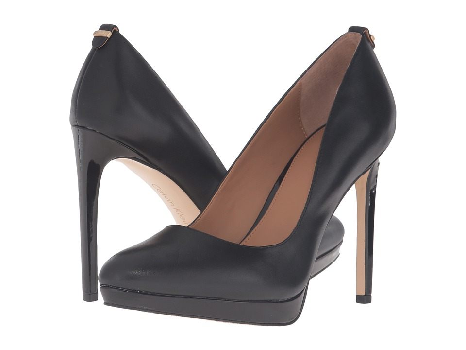 Calvin Klein - Suzzanne (Black Leather) Women's Shoes