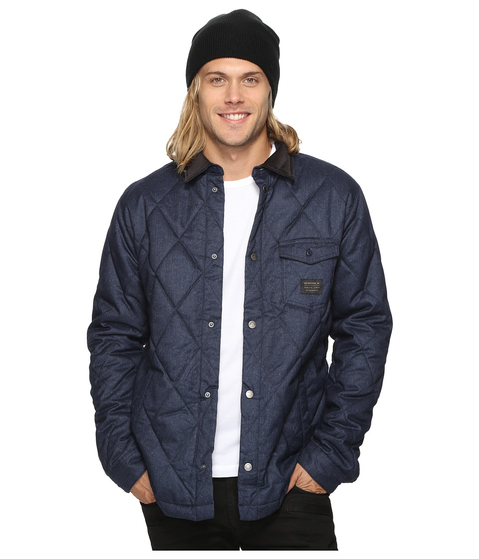 Quiksilver - Marbling Quilted Jacket (Navy Blazer Heather) Men's Coat