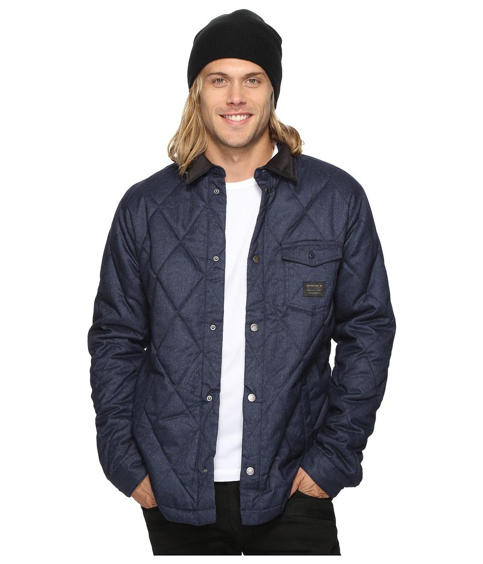 Quiksilver - Marbling Quilted Jacket (Navy Blazer Heather) Men's Coat