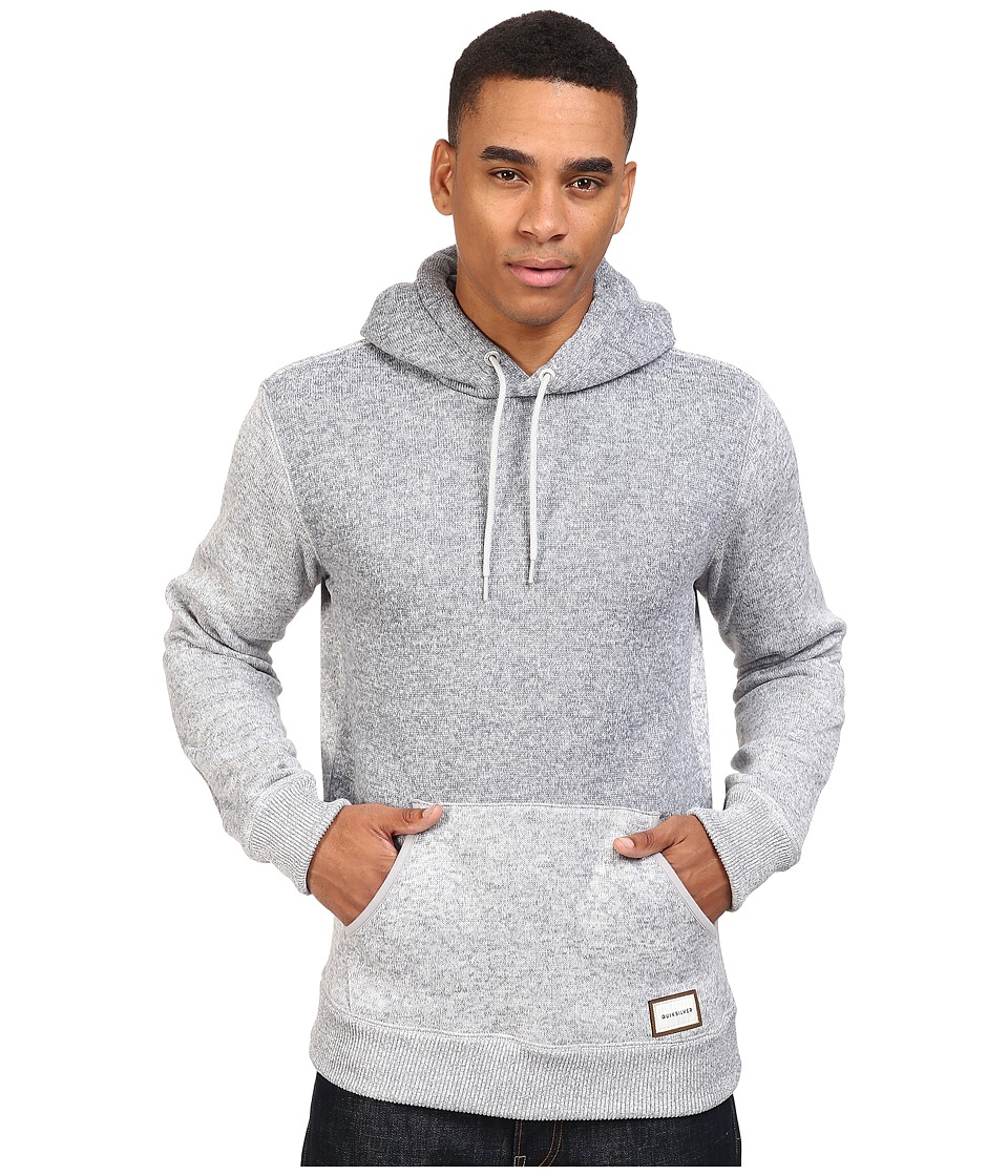 Quiksilver - Keller Polar Fleece Hoodie (Light Grey Heather) Men's Sweatshirt