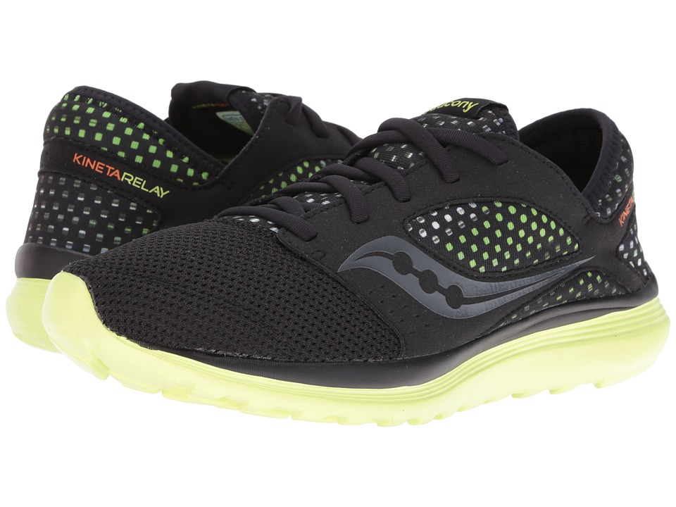 Saucony - Life on the Run Kineta Relay (Black/Lime Mist) Men's Shoes