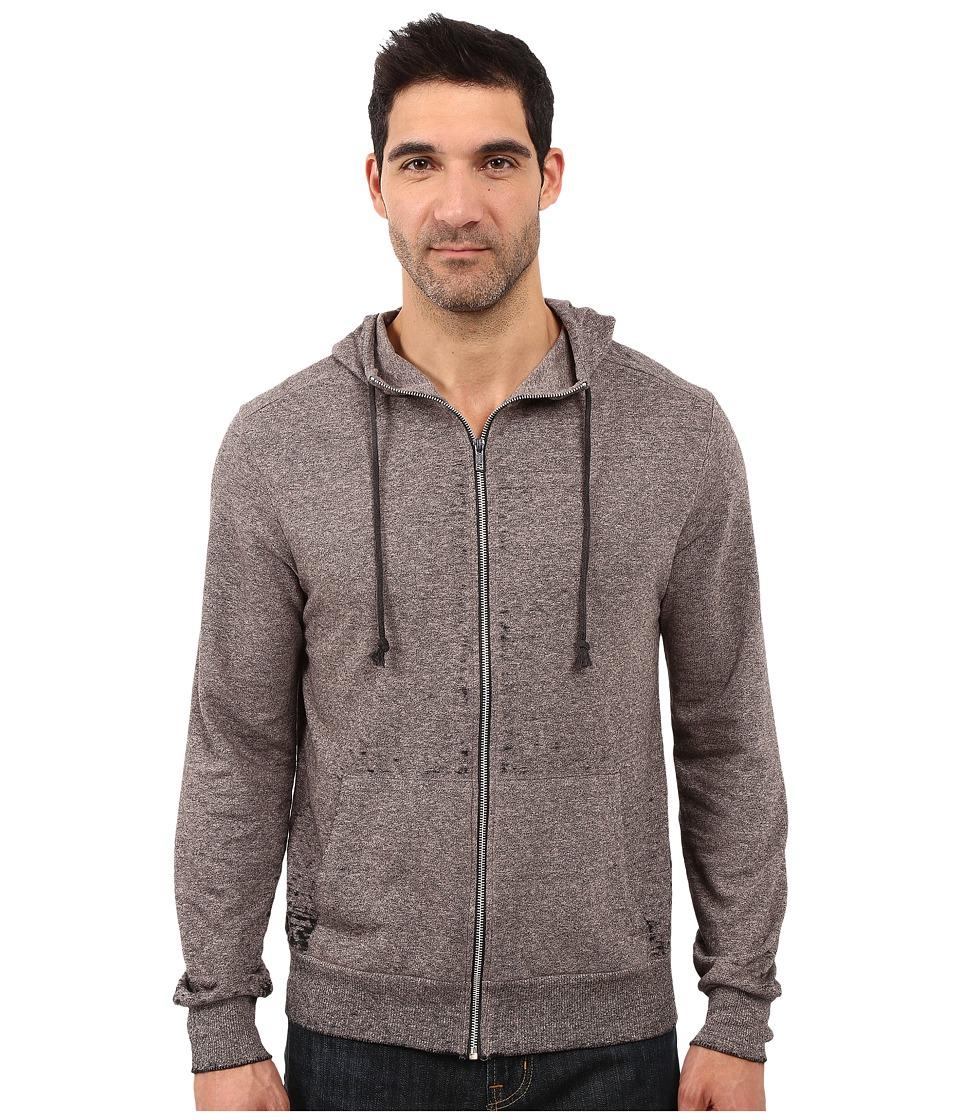 Alternative - Eco Mock Twist French Terry Burnout Mock Rocky (Black Burnout) Men's Sweatshirt