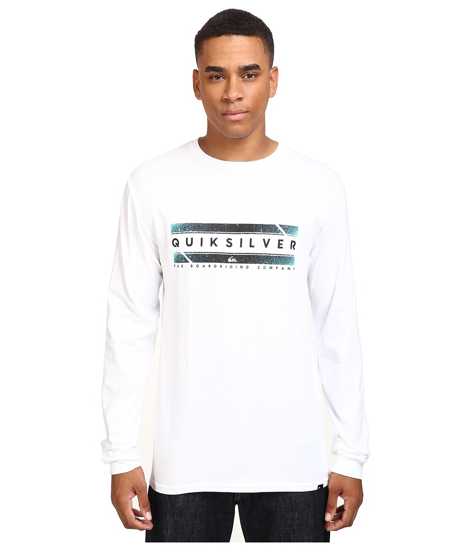 Quiksilver - In Da Box Long Sleeve Tee (White) Men's T Shirt