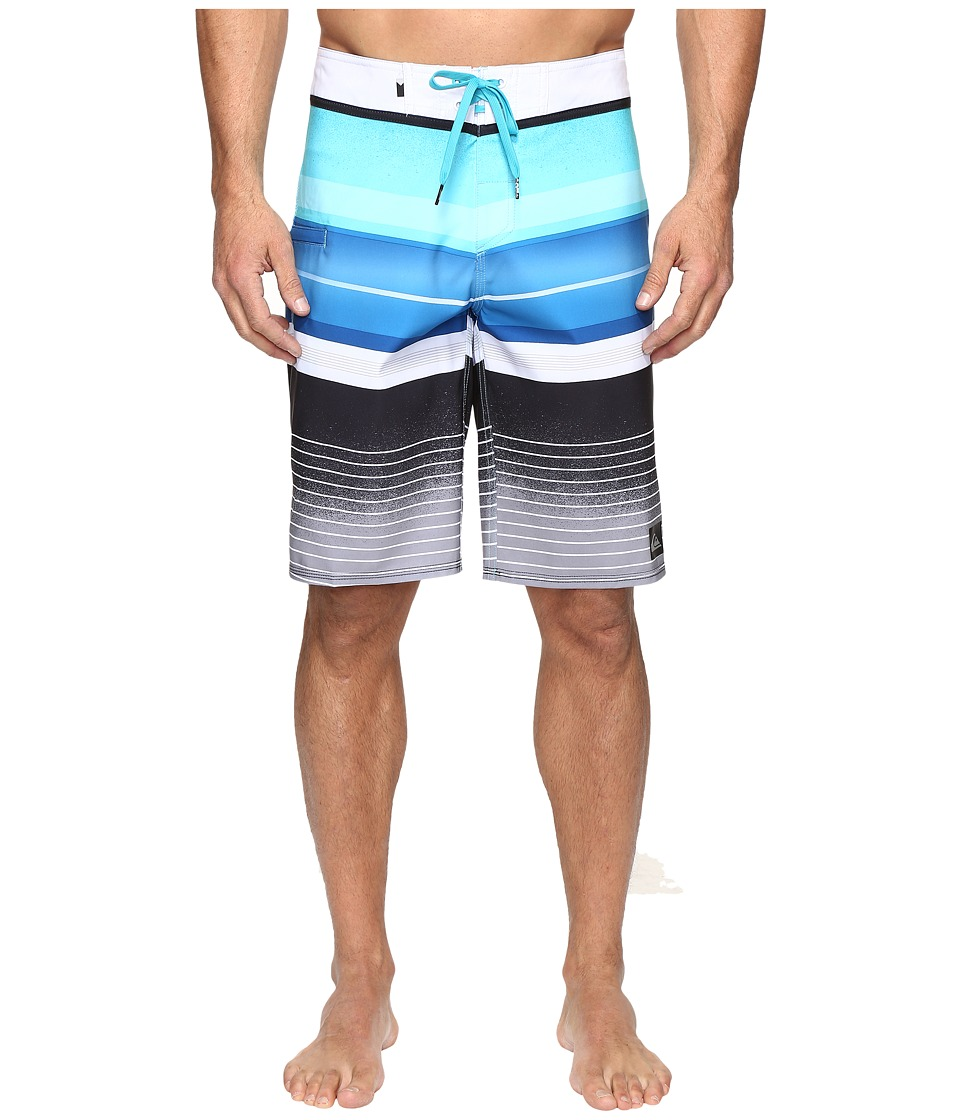 Quiksilver - Everyday Stripe Vee 21 Boardshorts (Scuba Blue) Men's Swimwear