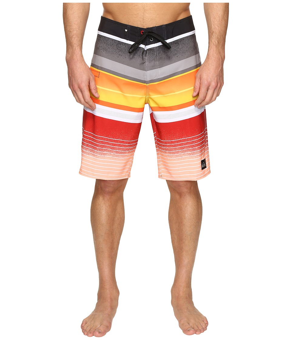 Quiksilver - Everyday Stripe Vee 21 Boardshorts (Black) Men's Swimwear