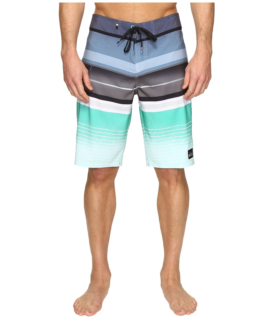 Quiksilver - Everyday Stripe Vee 21 Boardshorts (Nightshadow Blue) Men's Swimwear