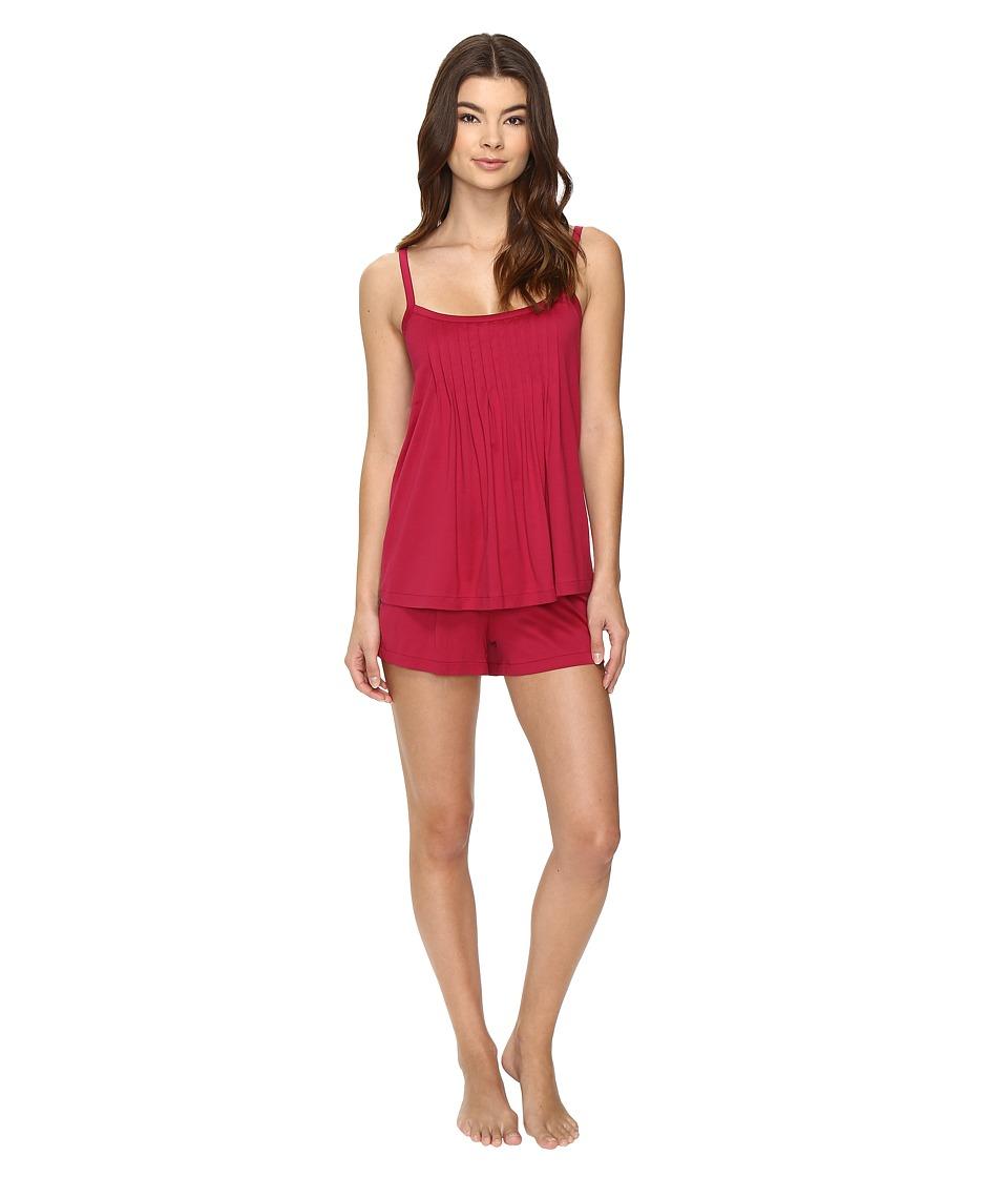 Hanro - Juliet Short Pajama (Cranberry) Women's Pajama Sets